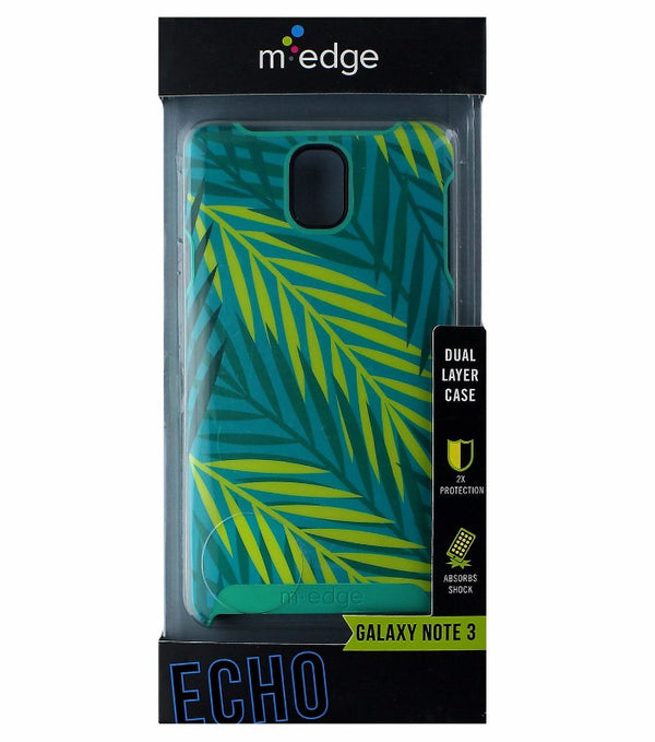 M-Edge Echo Protective Case Cover for Galaxy Note 3 - Green Leaves