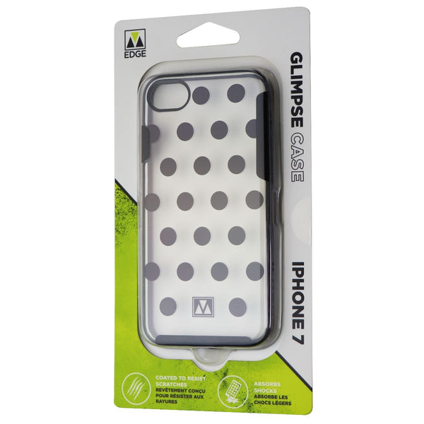 M-Edge Glimpse Hybrid Case for iPhone 8/7 & iPhone SE (2nd Gen) - Clear/PolkaDot