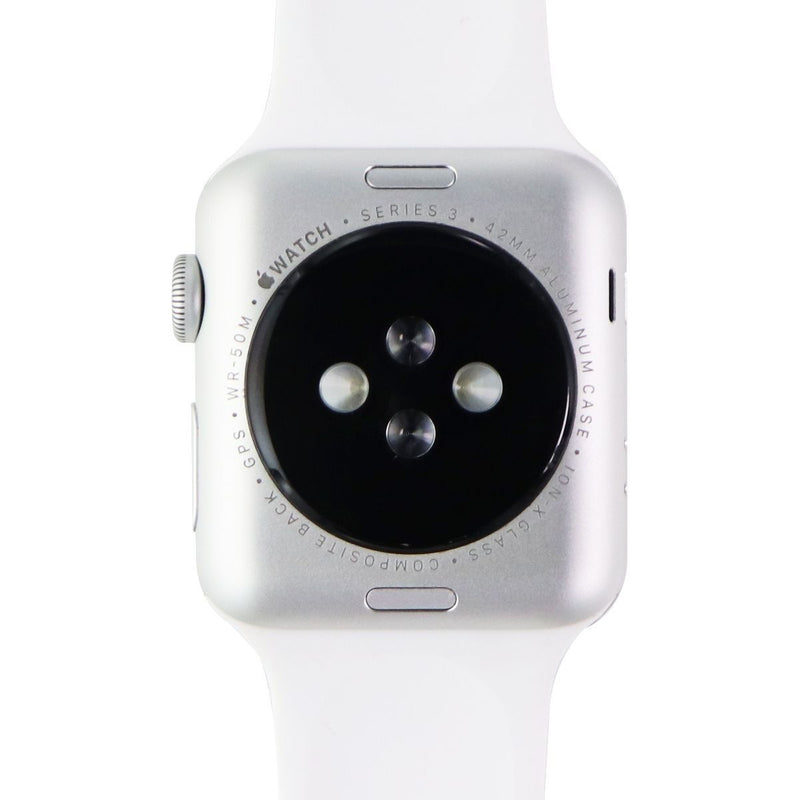 Apple Watch Series 3 (A1859) 42mm (GPS) Silver Aluminum Case / White Sport Band