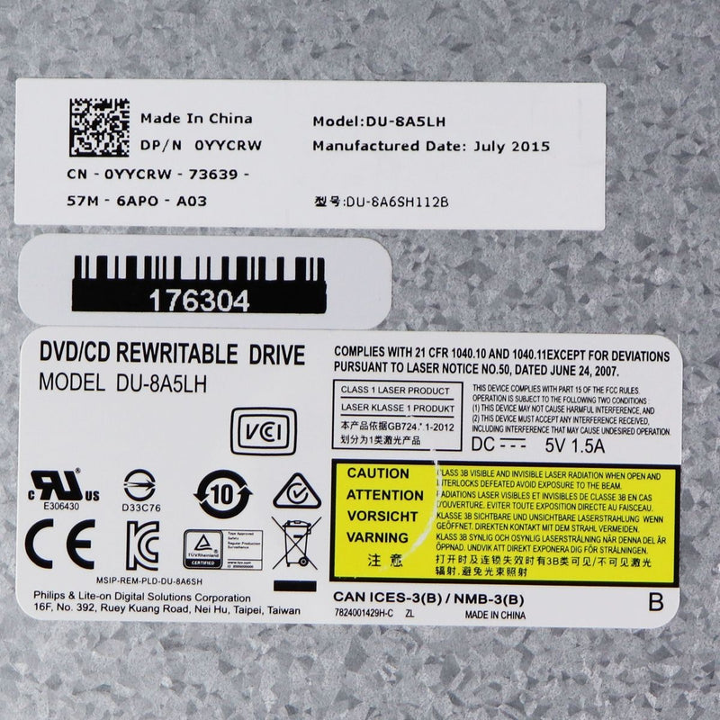 Dell YYCRW CD-RW/DVD Drive
