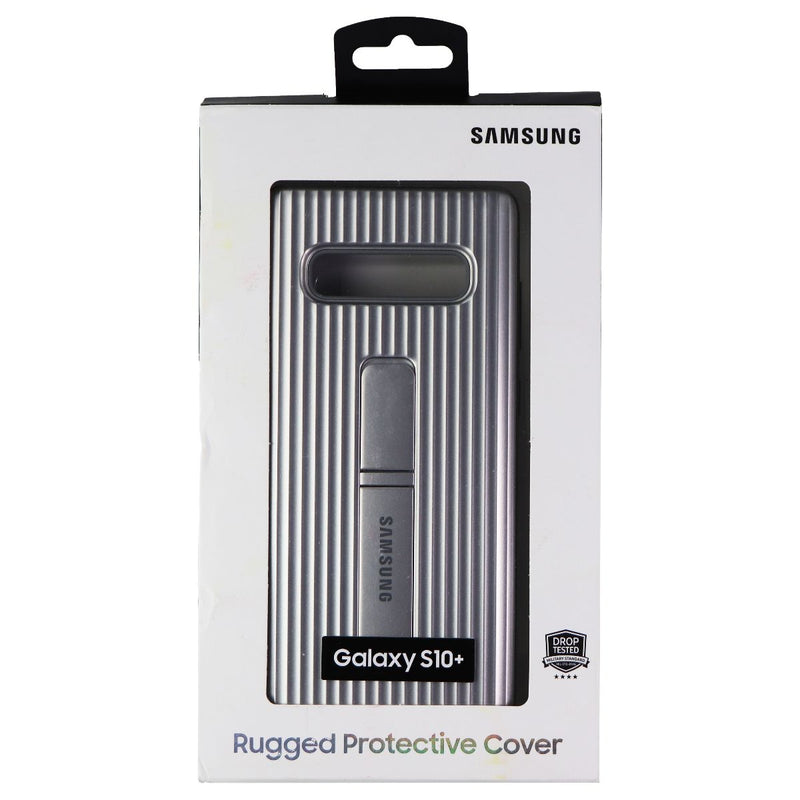 Samsung Rugged Protective Stand Case for Samsung Galaxy S10+ Smartphones Silver