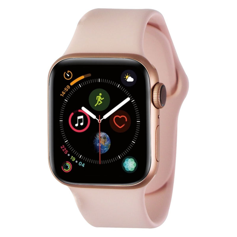 Apple Watch Series 4 (A1977) GPS Only - 40mm Gold Aluminum/Pink Sport Band