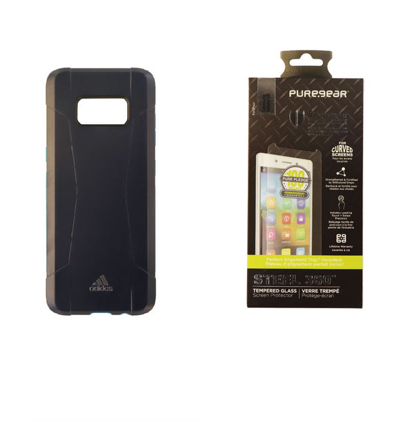 Adidas Solo Case with PureGear Glass Screen Protector for Samsung Galaxy S8