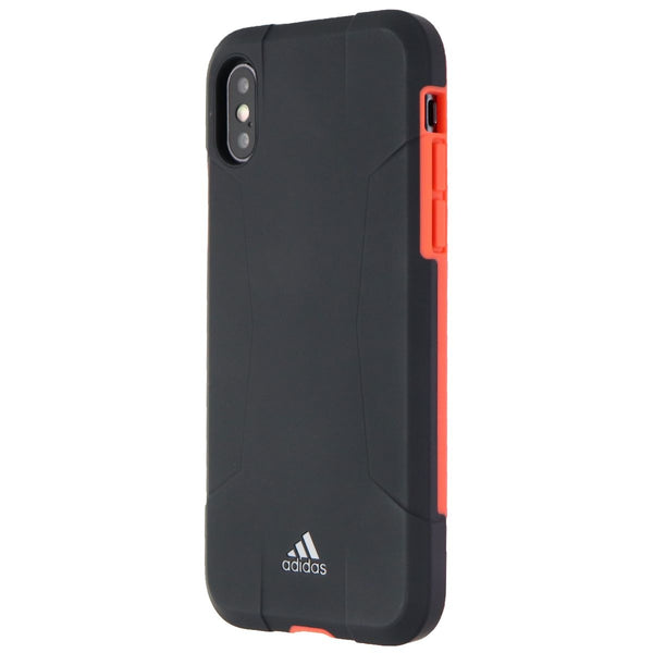 Adidas Solo Series Hybrid Hard Case for Apple iPhone XS and X - Matte Black/Red