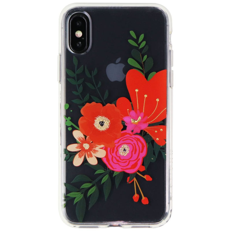 Platinum Hardshell Case for Apple iPhone XS & X Smartphones - Clear Flora