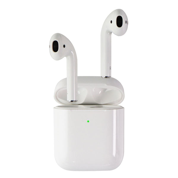 Apple AirPods (1st Gen) Headphones with (2nd Gen) Wireless Charging Case - White
