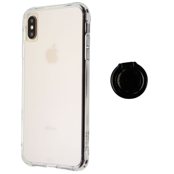 Case-Mate Tough Series Hard Case with Finger Loop Ring for iPhone XS Max - Clear