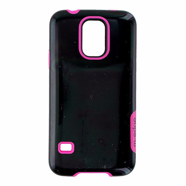 M-Edge Echo Dual Layer Protective Case Cover for Samsung Galaxy S5 - Black/Pink