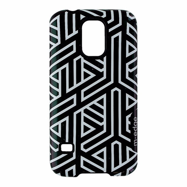 M-Edge Echo Series Dual Layer Hard Case For Samsung Galaxy S5 - Black/White
