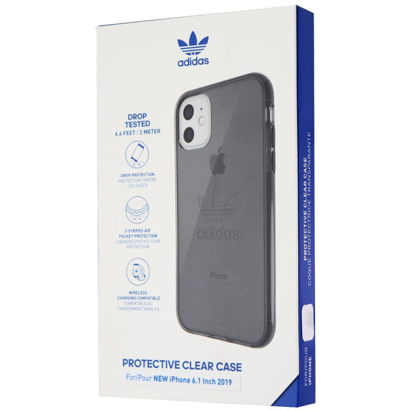 Adidas Protective Clear Case for Apple iPhone 11 (6.1) Smartphone - Smokey Black