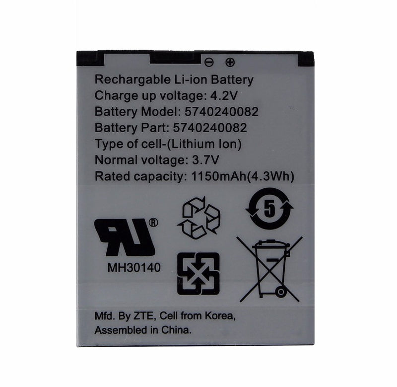 Replacement ZTE 1050 mAh Battery (5740240082) for Cricket TXTM8