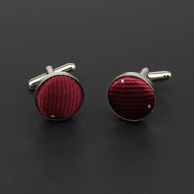Classic Fashion Dots Polyester Cufflinks