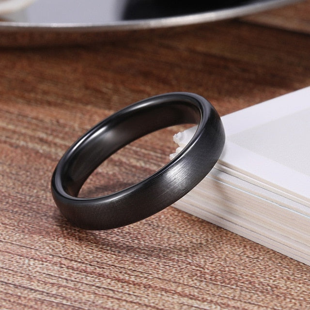 Ceramic Brushed Black Ring