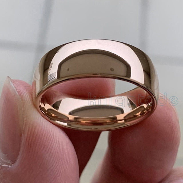 Gold Tungsten Wedding Ring