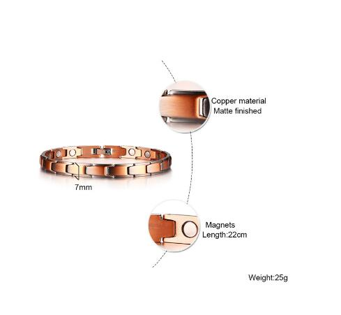 Elegant Copper Magnetic Therapy Bracelet