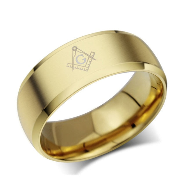 Men,s Trendy Titanium Ring