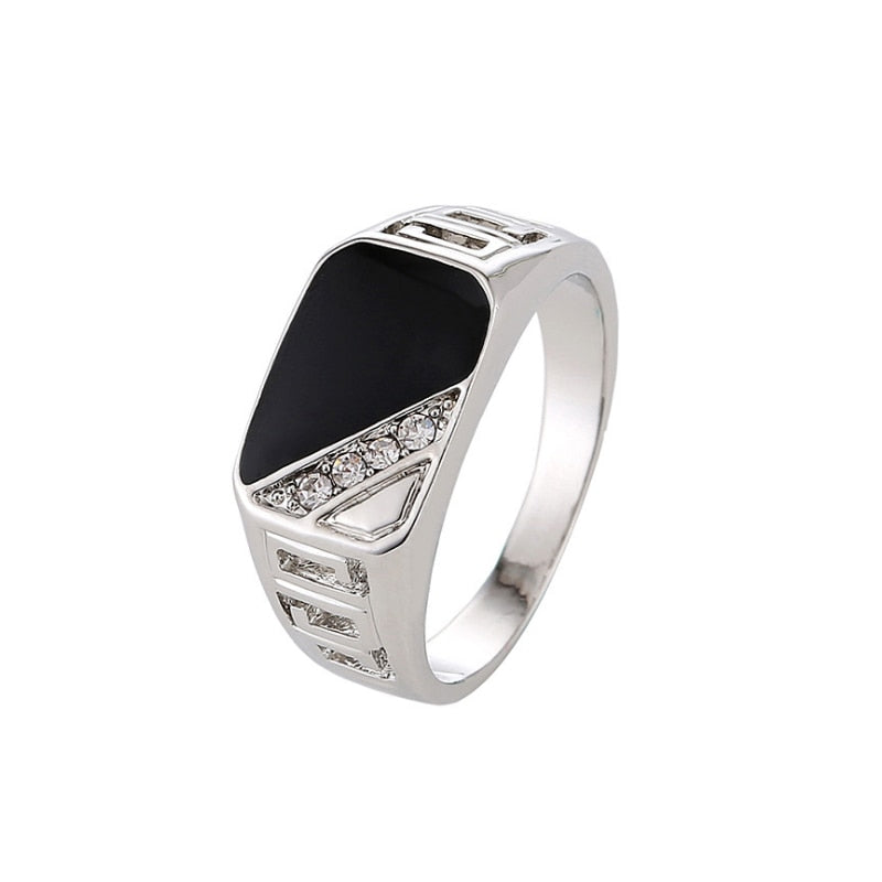 Men,s Concise Triangle Ring