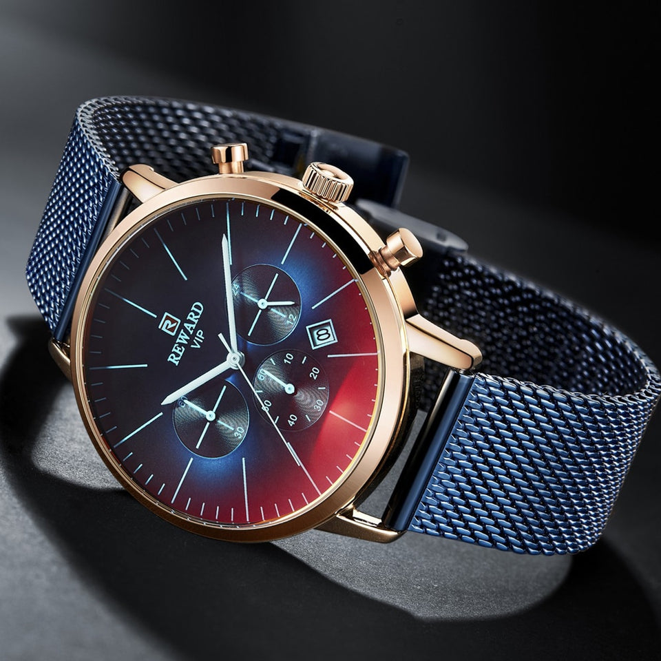 Bright Glass Men Watch