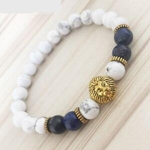 Men,s Gold Lion Head Bracelet