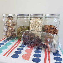 Load image into Gallery viewer, Glass 1 Ltr Utility Jars with screw on metal lid, Boxes of 6 & 12