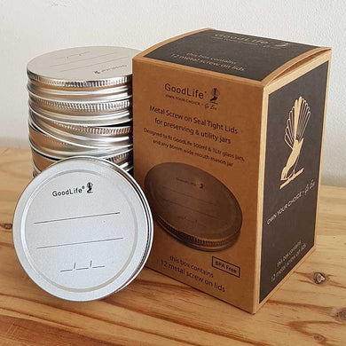 Metal Lids for preserving & utility jars - 12 Pack