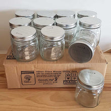 Load image into Gallery viewer, Glass 500ml Utility Jars with screw on metal lid, Boxes of 6 & 12