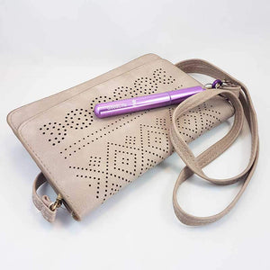Straw Kit, Collapsible Reusable - Purple