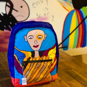 Colorful Person design backpack