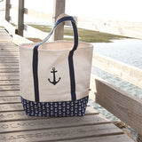 EMBROIDERED ANCHOR TOTE