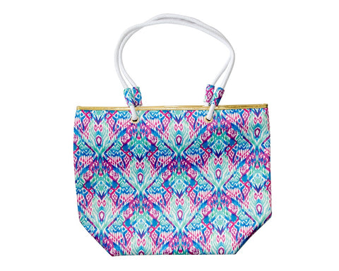 MINT TRIBAL BEACH BAG