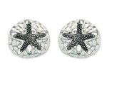 Sandollar stud earrings