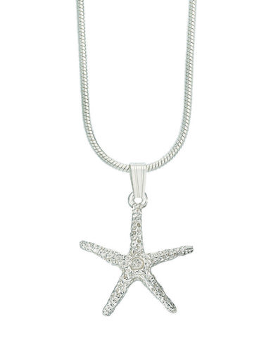 Starfish cut necklace