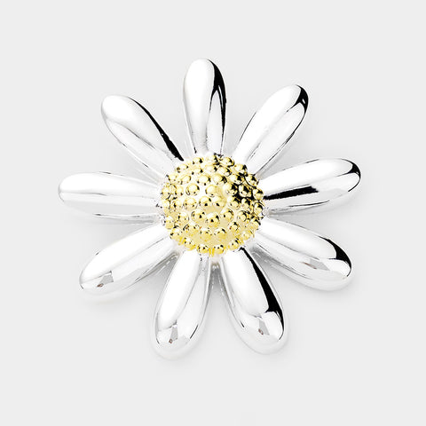 EMBOSSED METAL FLOWER