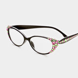BLACK/PINK READING GLASSES