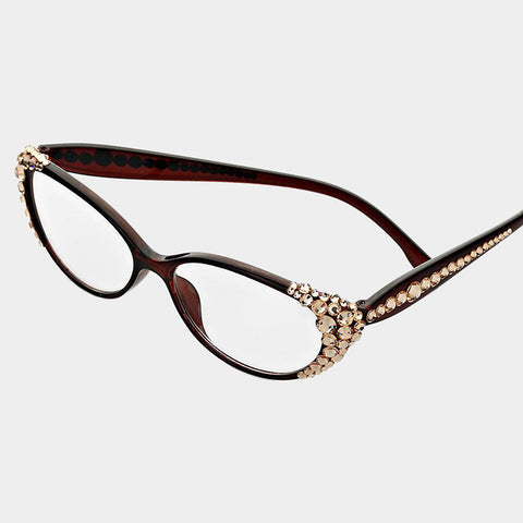 BROWN/PEACH READING GLASSES