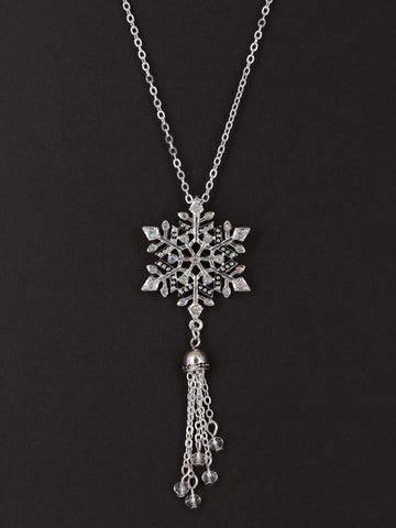 SNOWFLAKE PENDANT DROP NECKLACE