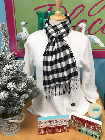 HOLIDAY FAB CASHMERE SCARF