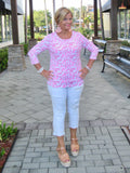 PINK REEF ROUD NECK TOP