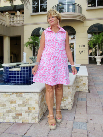 PINK REEF ZIPPER DRESS