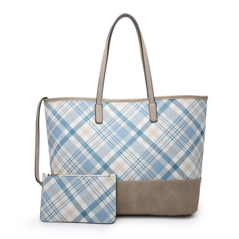 MY FOREVER TAN PLAID BAG