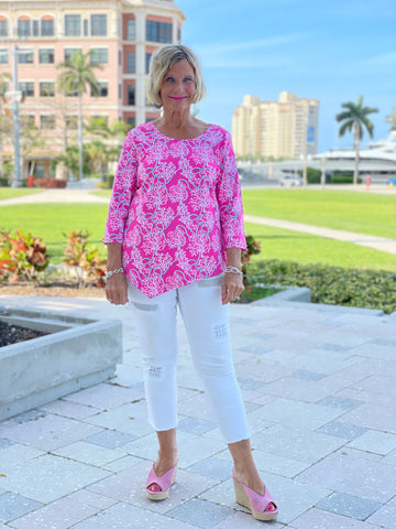 PINK LANE ASYMMETRIC TOP