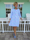 AQUA REEF SLEEVE DRESS