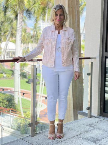 KEY WEST FROSTED PINK LINEN JACKET