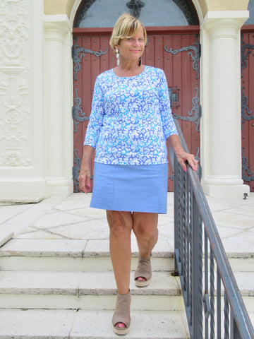 PERRI BLUE SKIRT