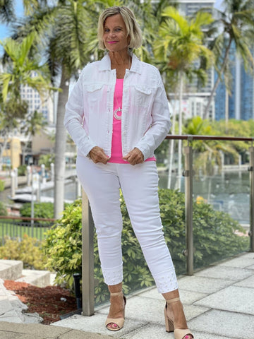 KEY WEST WHITE LINEN JACKET