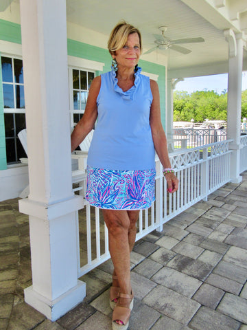 EMMA BLUE SHORT SKORT