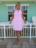 PINK REEF KEYHOLE DRESS