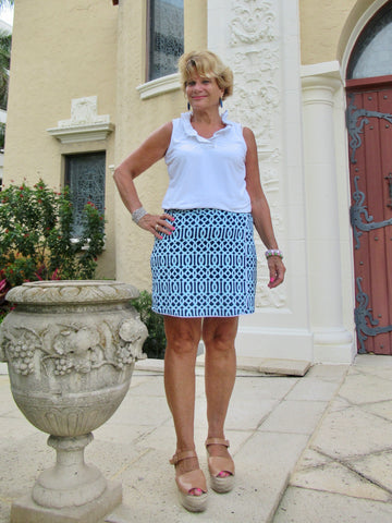 SERENA BLUE SHORT SKORT