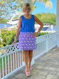 PINK STARFISH BEACH SKORT