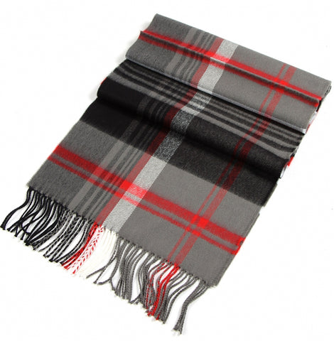 HOLIDAY PLAID CASHMERE FEEL SCARF